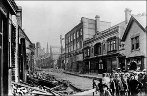 A view of the High Street after the fire
