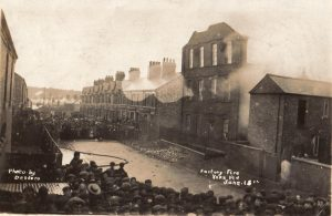 The factory fire in York Road